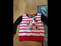 Girls Minnie sweater 2-3