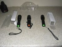 creet 3 bran new led torches