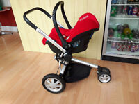 Quinny buzz buggy and maxi cosi carry cot all in one package foot muff rain cover inc.