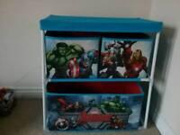 Kids avengers toy storage