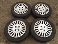 "Citreon 4 stud 15"" alloy wheels - good tyres"