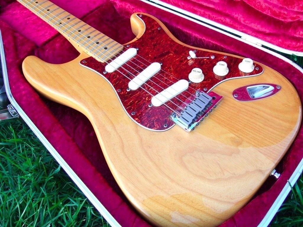1990 USA Fender Strat Plus in Natural Ash,