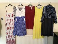 5 ladies dresses, Lindy Bop, Simply Be.