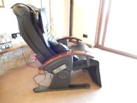 Optima Electrically operated Massage chair in Black with Rosewood Handles