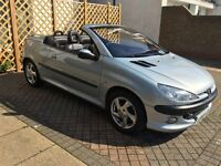 2003 peugeot 206 cc 1.6 with mot till may 2017 great little car!