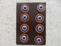 Vintage French Glass Buttons on 3 cards
