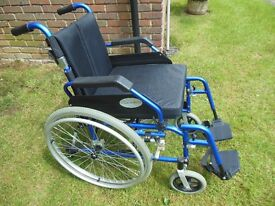 Angel Mobility Lightweight Folding Self Propelling Wheelchair, New condition.
