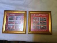 PAIR OF ARSENAL FRAMED STAMPS