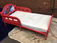Kids spider man bed with mattress good functional condition