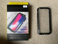 Magnetic Absorption Metal Edge Tempered Glass Full Cover Case For iPhone 7 8 Plus X XS XR