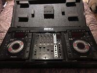 2 x Pioneer CDJ 900 + DJM-750 Mixer + Flight case + Accessories (AMAZING ASSETS) -- MacBookPro 15''