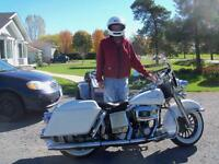 1985 COLLECTERS VERY RARE, HARLEY-DAVIDSON FLHP, POPE'S  ESCORT