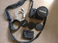 Clean Olympus E500 DSLR Camera for sale with battery, lens, charger, case, 4Gb Memory Card, USB