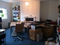 Bright 6 desk office in creative building