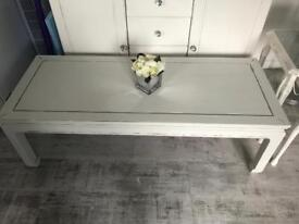 Pale grey shabby chic coffee table