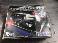 Sega Mega Drive with 10 games