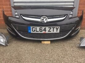 VAUXHALL ASTRA FRONT BUMPER WITH HAED LIGHT AND FOG LIGHT