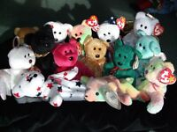 Retired ty Beanie Bears & Babies - Great christmas presents!