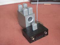 Marantz AV 5.1 Receiver with Tannoy speakers and speaker glass base stands