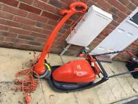 Lawnmower, strimmer, RCD adapter bundle