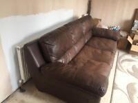 3seater and 2 seater Italian leather sofa
