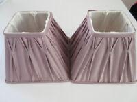 Purple ( Amethyst) Laura Ashley real silk Lampshades