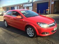 vauxhall astra 3dr 2007 in red