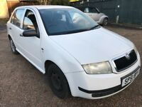 Skoda Fabia Classic SDI 1896cc TurboDiesel 5 speed Manual 5 Door hatchback 51 Plate 01/01/2002 White