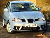 2007 SEAT IBIZA 1.2 12v REFERENCE*5 DOOR*6 SERVICE STAMPS*ONLY 1 FORMER KEEPER*MOT*3 MONTH WARRANTY*