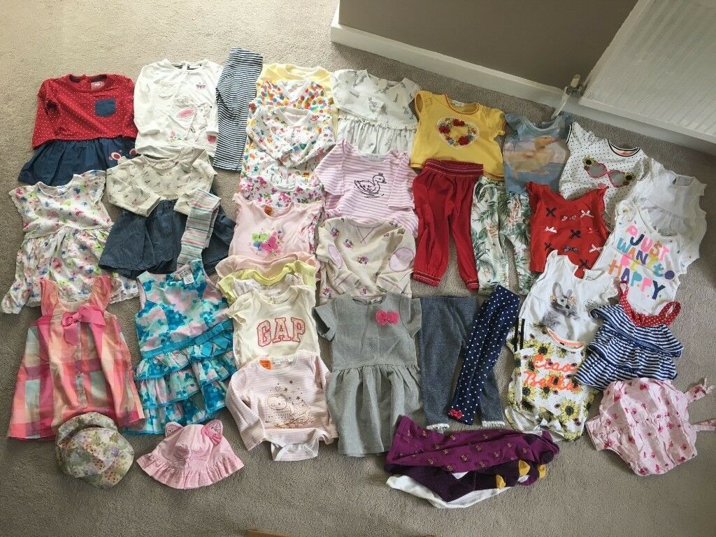 Girls' Clothing (newborn-5t) Baby Girls Clothes Bundle Size 12-18 Months Mixed Items & Lots
