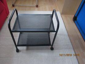 Black steel trolley