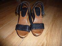 Faith Hoxton Wedge Sandals Size 3 BN