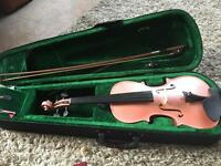 Pink full size violin