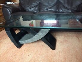 Modern Glass Coffee Table. From Costco