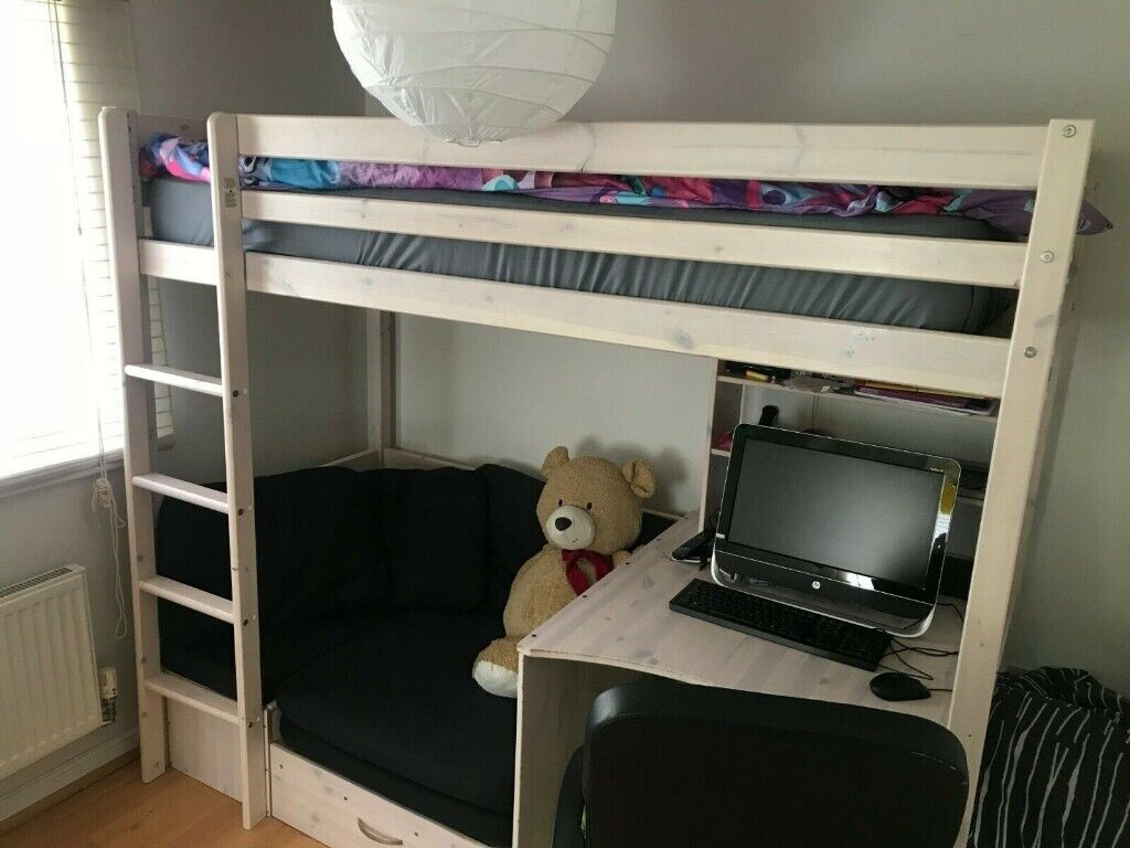 Stompa Casa 5 High Sleeper Bunk Bed With Storage Desk Futon And Top Mattress In Colchester Es Gumtree