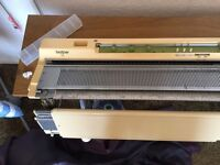 Brother 881 knitting machine with many accessories