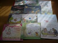 A selection of 14 Angelina Ballerina's Books