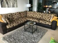 Large L shape 8 seater Sofa with sofa bed