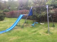 TP Climbing Frame ; Slide and Two Swings