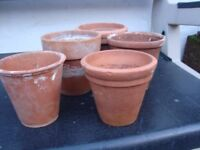 Vintage Terracotta Pots various sizes