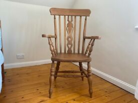 Vintage Grandad High Beech Fiddle Back Chair - Excellent Condition