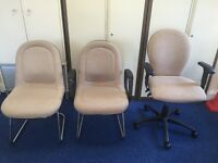 FREE: 5 OFFICE CHAIRS - GOOD CONDITION