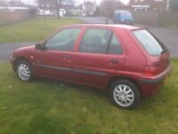1999 Peugeot 106 XN Zest 2 1.1i only 42720 miles. Cheap to insure and run: ideal 1st car