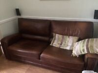 Leather suite (TASKERS) £175