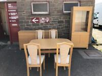 Solid oak Skovby extending dining table & chairs * free furniture delivery*
