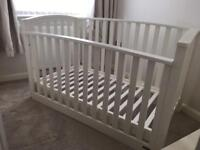 Mamas and Papas 'Alpine' white Cot bed