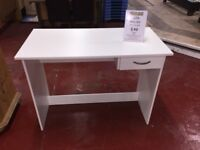 Small White Desk BRAND NEW FURNITURE MOUNTAIN
