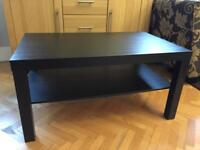 Coffee table black-brown