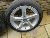 GENUINE AUDI A3 ALLOY WHEELS ALLOYS & TYRES 2016 NEW STYLE 8V0601025CT