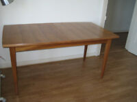 Dining table, wood, 85 cm x 150 / 210 cm, £40